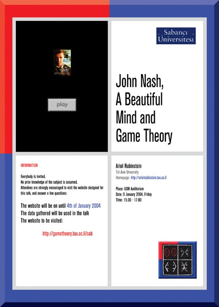 john nash thesis game theory John f nash jr, who revolutionized the mathematical field of game theory, was endowed with a mind that was highly original and deeply troubled.