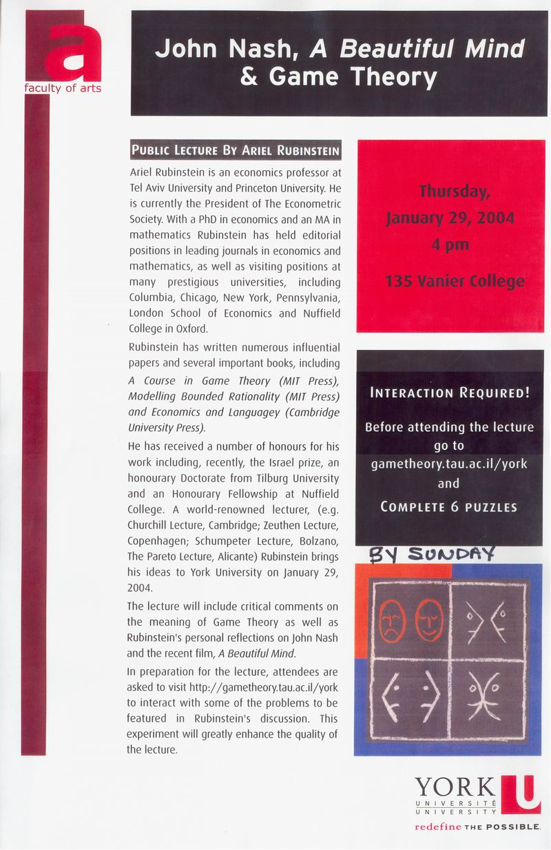 essays on game theory and mathematical economics C 2014by the mathematical associationof america,inc game theory through examples 1 theory 1: introduction 1 11 what's a game.